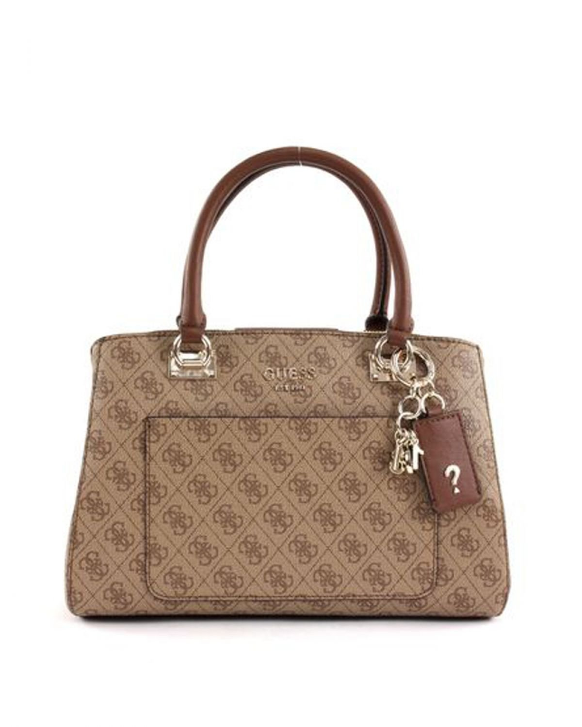 Guess Kathryn Girlfriend Satchel Kadın El Çantası SG717406 Brown - Multi