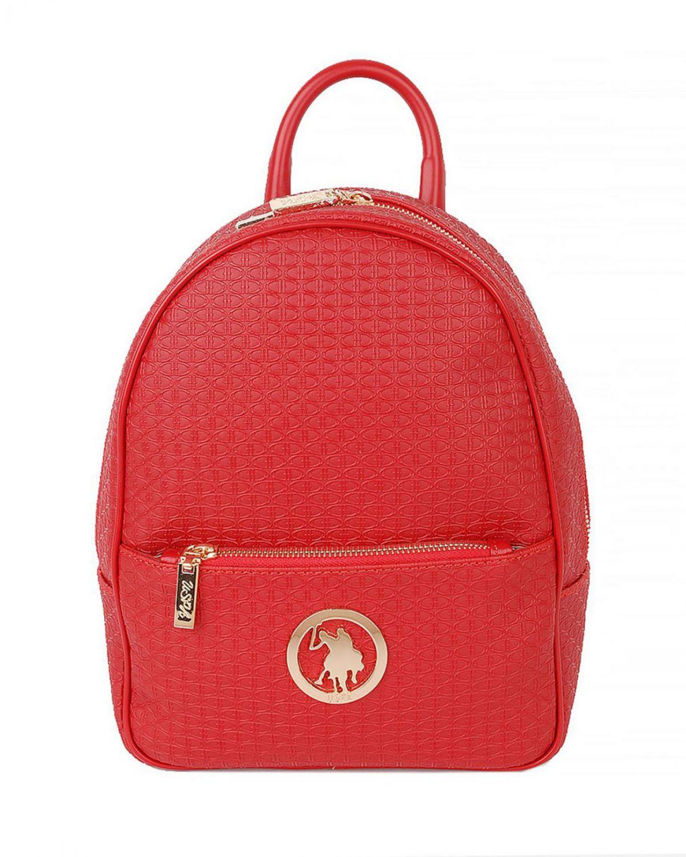 Us Polo Assn Metal Logolu Kadın Çantası US18125 Kırmızı