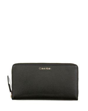 Calvin Klein Frame Large Zip Arou Kadın Cüzdanı K60K604497 Siyah