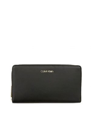Calvin Klein Fold Large Zip Aroun Kadın Cüzdanı K60K604491 Siyah