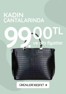 Kadın çantası 99 tl ve altı